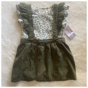 Carter's 2-piece pinafore dress